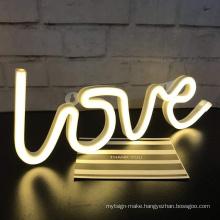Custom Flex Decorative wholesale led LOVE neon logo signs