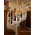 Barandilla de roble rojo hermoso diseño escalera de madera maciza