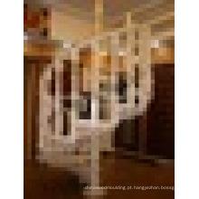 Corrimão de carvalho vermelho belo design escada de madeira maciça