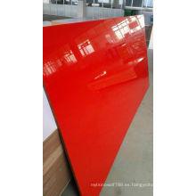 MDF UV de color rojo de 16 mm