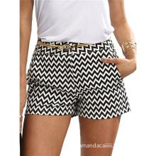 Fashion Shorts New Plaid Woman Shorts White Black