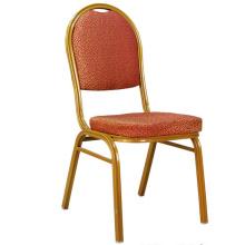 Alta calidad tela roja Glod marco silla del banquete del Hotel