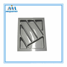 Glänzend Silber Plastikbesteck Tray Set