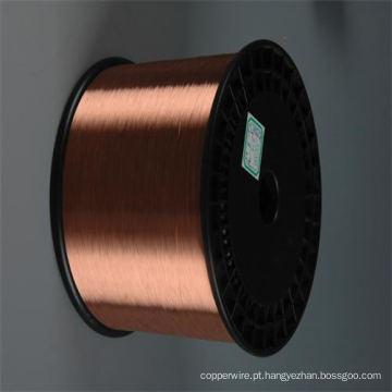 Diâmetro 0,10 mm-4,0 mm CCS Fio de aço revestido de cobre para fio de telefone