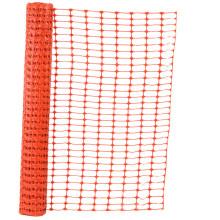Rede de vedação de segurança laranja de plástico
