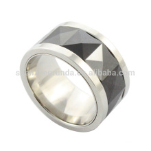 wholesale 2014 new cheap fashion high quality stainless steel mens black ceramic ring from jewelry manufacturer