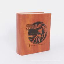 Forma de livro personalizada fechadura magnética caixa de presente uso de serigrafia