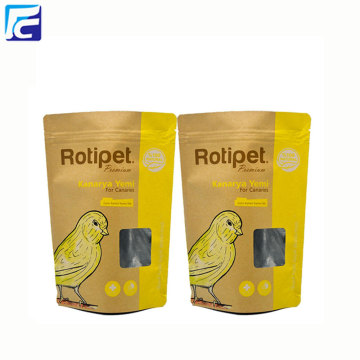 Kraft paper stand up pouch with clear window