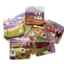 10 X 10 carrés d'impression personnalisée Cork Coasters