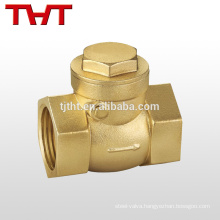Swing non-return brass fuel line flow control check valve