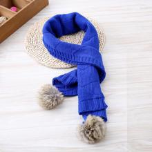 Fashionable Cute Baby Double Ball Knitting Scarf