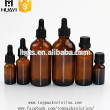 5ml 10ml 15ml 20ml 30ml 50ml 100ml child proof dropper plastic aluminium cap amber essential oil glass bottle
