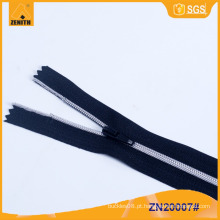 No.3 chapeado dentes de prata Nylon Zipper ZN20006