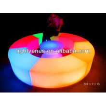Curved sectional LED bench