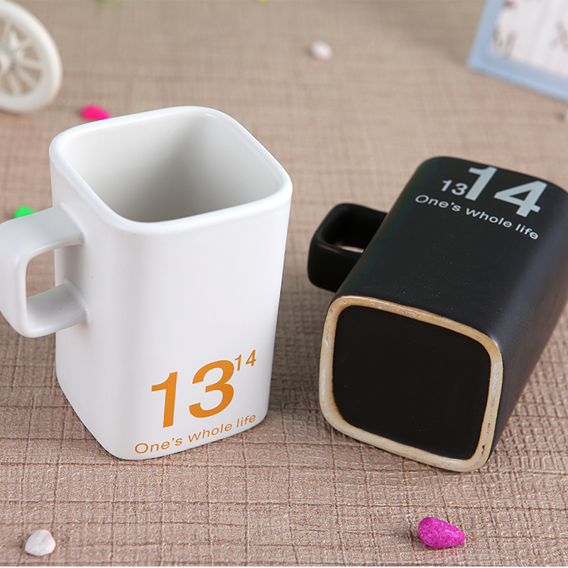 White and Black Coffee Mug