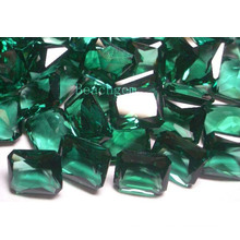 Joias pedras de quartzo verde peças-Syntehtic