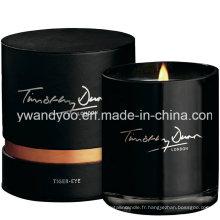 Bougie parfumée noire de bougie parfumée de luxe de soja de 2015