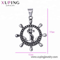 33422 xuping Hot selling  fashion Stainless Steel jewelry black gun color cool  pendant