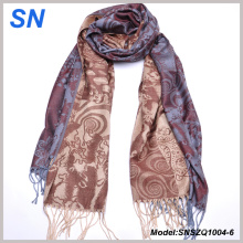 2014 Fashion Jacquard Pattern Satin Paisley Stoles for Women