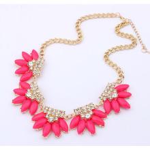 Alta moda de qualidade marca declaração colares festa chunky gargantilha cristal pingentes colar declaração joias de luxo para mulheres