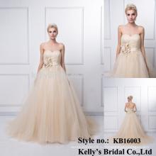 Фабрика оптовая продажа 100% реальные фото длинный шампанское анти-морщинки-линии off-плечи элегантные модели из кружева вечернее платье
