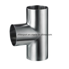 Polished Sanitary Stainless Steel Welded Equal Tee