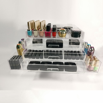 Acryl cosmetische make-up organizer met laden