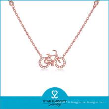 Collier de bijoux en argent certifié chaud SGS 2015 (N-0324)