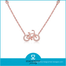 2015 SGS Certified Hot-Selling Silver Jewelry Necklace (N-0324)