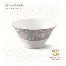 Personalisierte hochgradige China Porzellan Reis Schüssel mit Löffel
