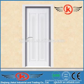 JK-MW9004B portes de chambre modernes blanches / portes en mélamine en bois