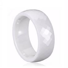 Traditionelle weiße weiße keramische Hochzeits-Ringe der Rabatt-Männer