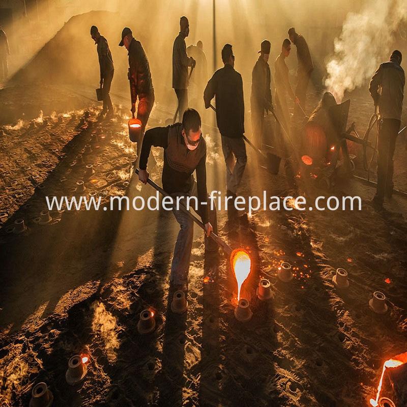 Backyard Wood Burning Fireplace