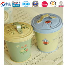 Cute Carton Priinted Wholesale Metal Bucket with Tin Lid