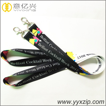 Metal hook custom warna-warni sublimasi lanyard