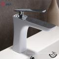YLB0104 Sanitary ware polished bathroom single hole brass basin faucet