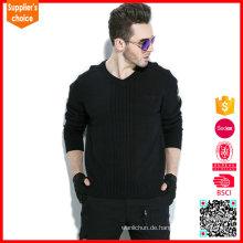 2017 neuer Entwurf langer Hülse kundenspezifischer Uniform Armee-Wollestrickjacke Pullover