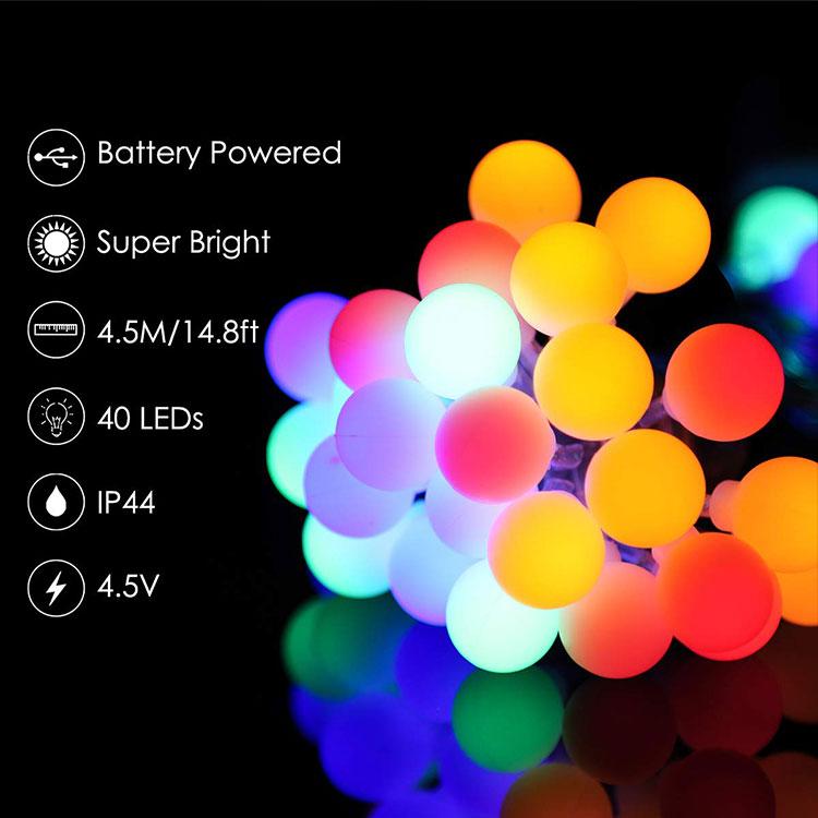 led cotton balls led string lights details
