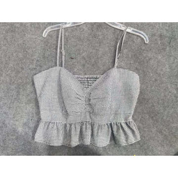 Cute White Smocked Top Colheita da Cintura