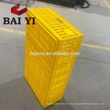 Material plástico Jaula de transporte animal para uso de pollo