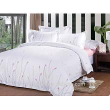 Ropa de cama de flores puras y frescas, textiles de algodón estampado en casa, ropa de cama conjunto completo