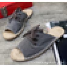 Оптовые мужские джутовые подошвы Espadrilles сандалии 2016 летней обуви Espadrille
