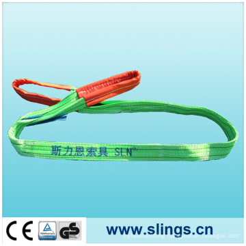 Double Eye 100%Polyester Webbing Sling with Safety Factor 7: 1
