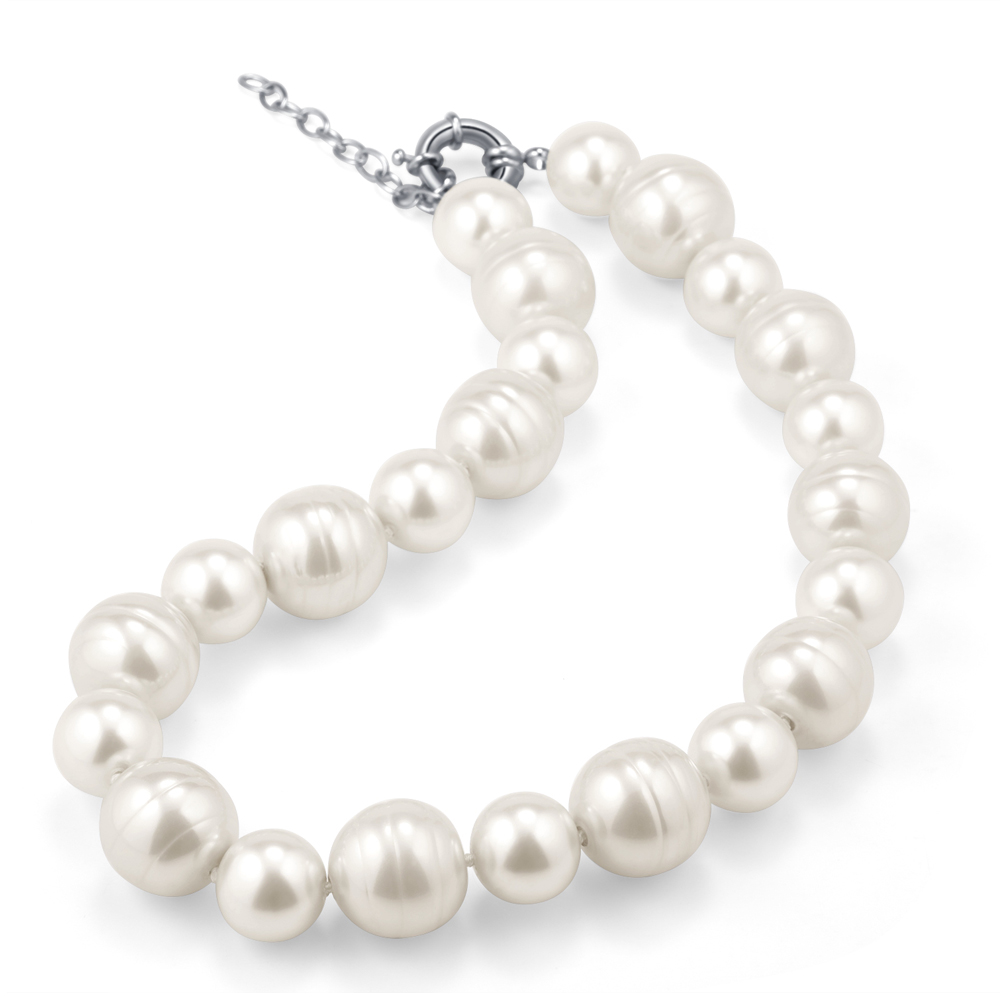 Hight Quality White Baroque Pearl Necklace