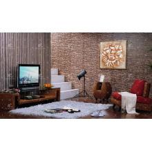 Nuevo gabinete de TV de Hyacinth de agua del diseño (tejido a mano por el mimbre, el jacinto y el marco de madera)