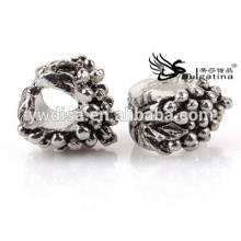Fashion Metal Beads With Antique Silver Plated For Jewelry Making 4.5mm Hole For Chains New Design