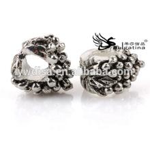Модные металлические бусины с антикварным серебром для ювелирных изделий Изготовление отверстий диаметром 4,5 мм для цепей Новый дизайн