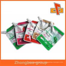 Pochette en jus de plastique stratifié refermable avec bouche oblique