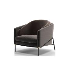 Italian design modern living room single velvet armchair office accent chair