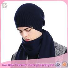 100% Cashmere kintted hat scarf set stock